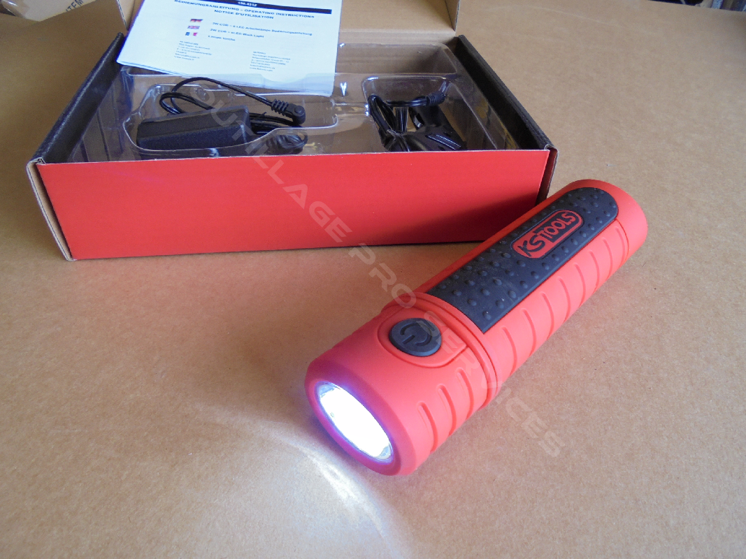 lampe torche baladeuse coulissante rechargeable KS Tools - 3